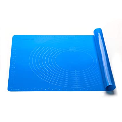 Extra Large Reusable Silicone Non Stick Rolling Baking Pastry Mat With Measurement for Rolling Dough, Countertop Protection, Fondant Pie Crust Mat, ...