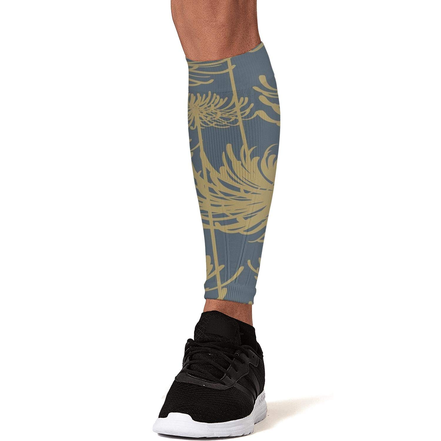 Smilelolly Fancy Floral Foliage Calf Compression Sleeves Helps Faster Recovery Leg Sleeves for Men Women