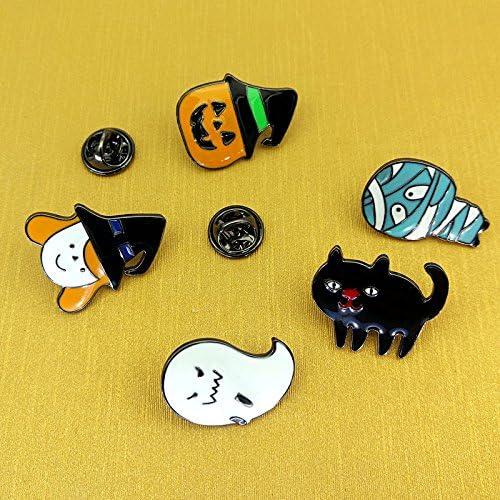 "Black Cat Halloween Pin Brooch Broach 1.5/"" NWT"