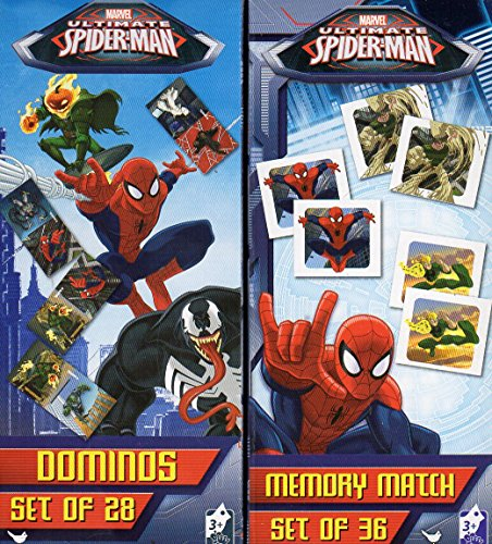 Marvel Spider-Man – Dominois Domino & Memory Match Game Puzzle 2 Piece SET