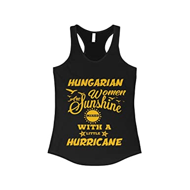 bdf3289f29342 Amazon.com  Women s Hungarian Women are Sunshine Mixed with A Little Shirt  - Hungarian Tank Top  Clothing
