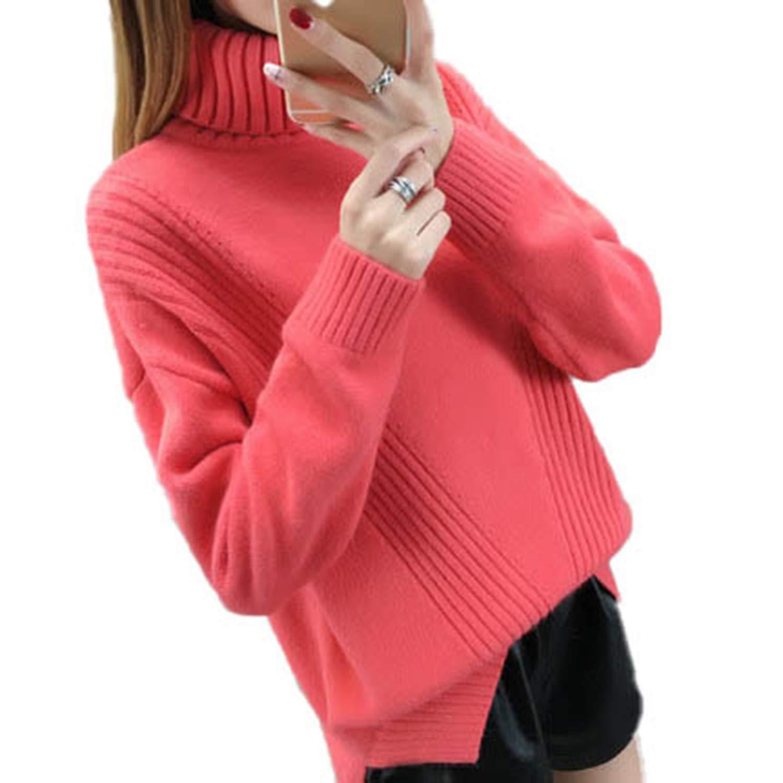 Cyose Fashion Women Turtleneck Sweater Women Sweaters Women Sweaters and Pullovers Female Knitted Sweater