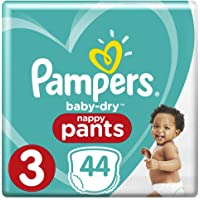 Pampers Baby-Dry Nappy Pants Size 3 Crawler (6kg-11kg), 44 Nappy Pants