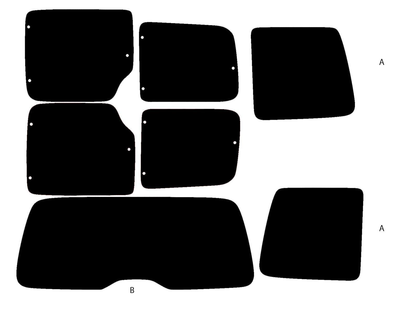 PSSC Pre Cut Rear Car Window Films - Citroen Berlingo MPV 1996 to 2015 05% Very Dark Limo Tint PSSC Window Film