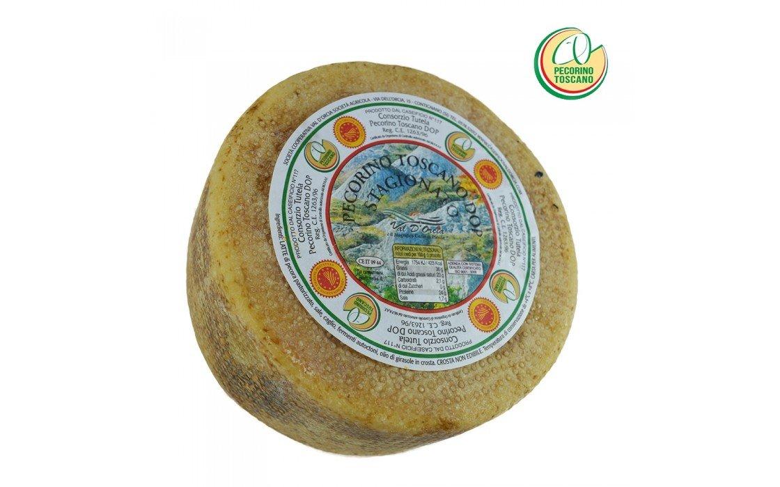 Pecorino Toscano PDO - Aged Sheep Cheese - Whole wheel 4 lbs/Kg. 1.8