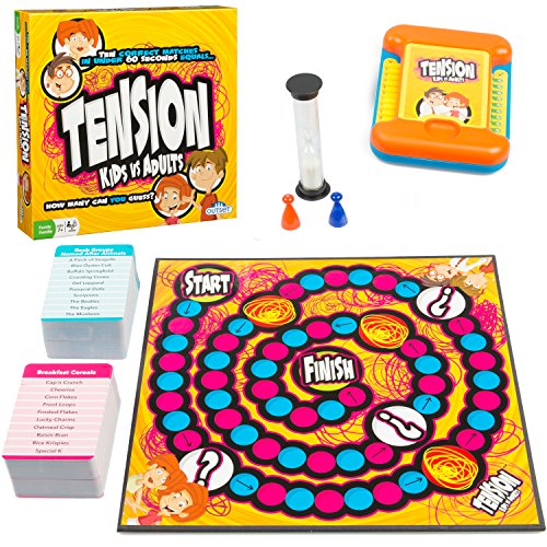 Tension Family Edition Board Game   Fast Paced Guessing Game Of Subjects And Categories   Kids Vs  Adults Version Features 200 Cards  Ages 7