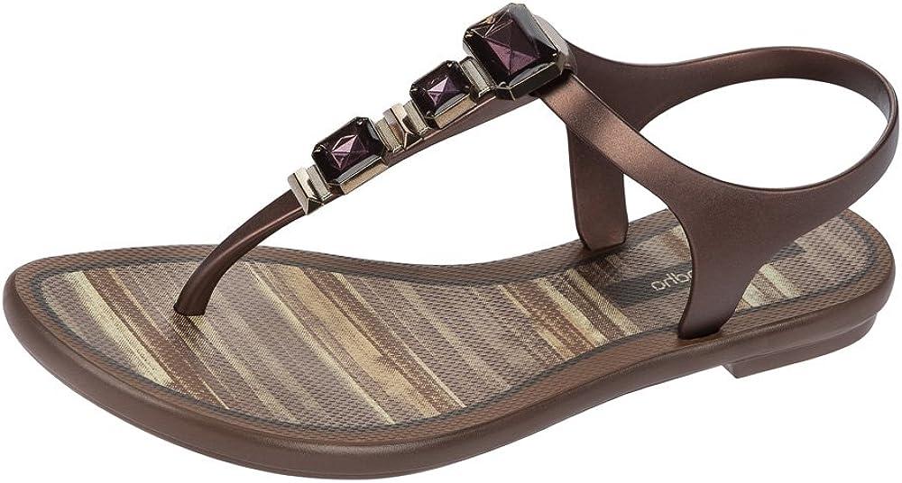 Grendha Bronze Jewel Size UK7 flip Flops
