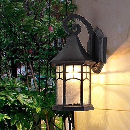 Antique Classic Victorian Outdoor Wall Lantern American Waterproof Lámpara de pared para jardín 1-Light E27 Patio Decoración Aluminio Aplique de pared Luz en el hogar Exterior de pared Colgante de luz: Amazon.es: