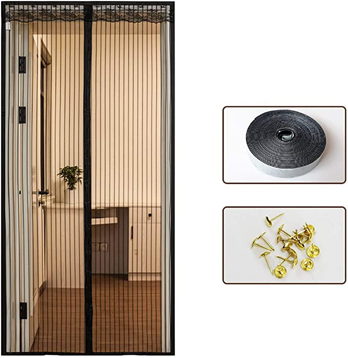 DWDWDDWD WH - Cortina de Velcro, Puertas, mosquitera magnética ...
