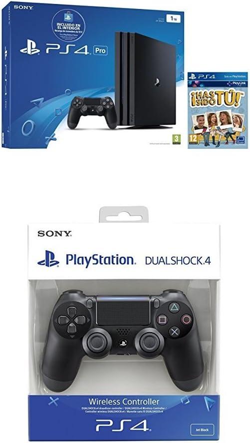 PlayStation 4 Pro (PS4) - Consola + Voucher 10 € + Voucher ¡Has Sido Tú! Chasis B + Dualshock 4 V2 Mando Inalámbrico, Color Negro V2 (PS4): Amazon.es: Videojuegos