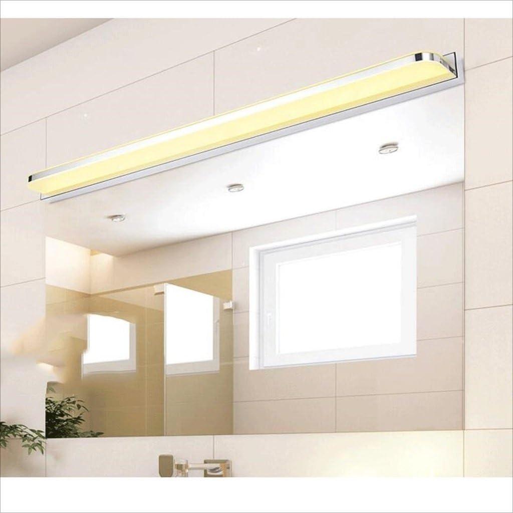 LU-Badezimmer Wasserdicht Nebel Led Led Spiegel Licht Modern Einfache LED Wandleuchte Acryl Bad WC Make-up Lampe (Farbe : Weiß-3w/25cm) Warmweiß-9w/42cm