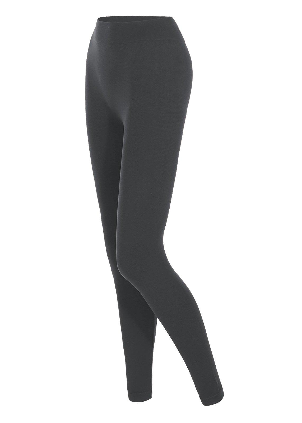 Luna Flower Women's High Waist Legging Premium Cotton Skinny Fit Tights ASH_Grey LXL(GPTW040)