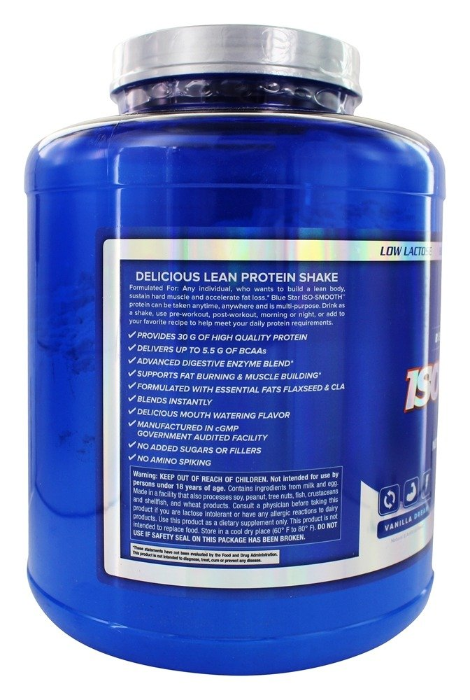 Amazon.com: Blue Star Nutraceuticals - Iso-Smooth Pharmaceutical Grade Protein Shake - 5 lbs (Chocolate Sin): Health & Personal Care