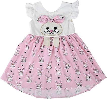 Vestido de dibujos animados para bebés,manga corta de Una línea ...