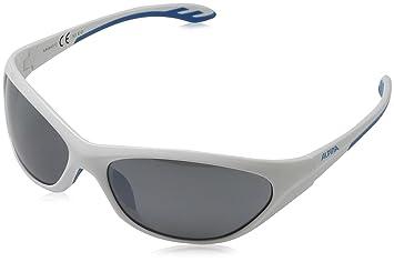 Alpina Kinder Sonnenbrille SEICO, white-cyan, A8444312