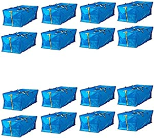 Ikea Frakta Storage Bag,Extra Large - Blue - 4 PACK (16 Pack)