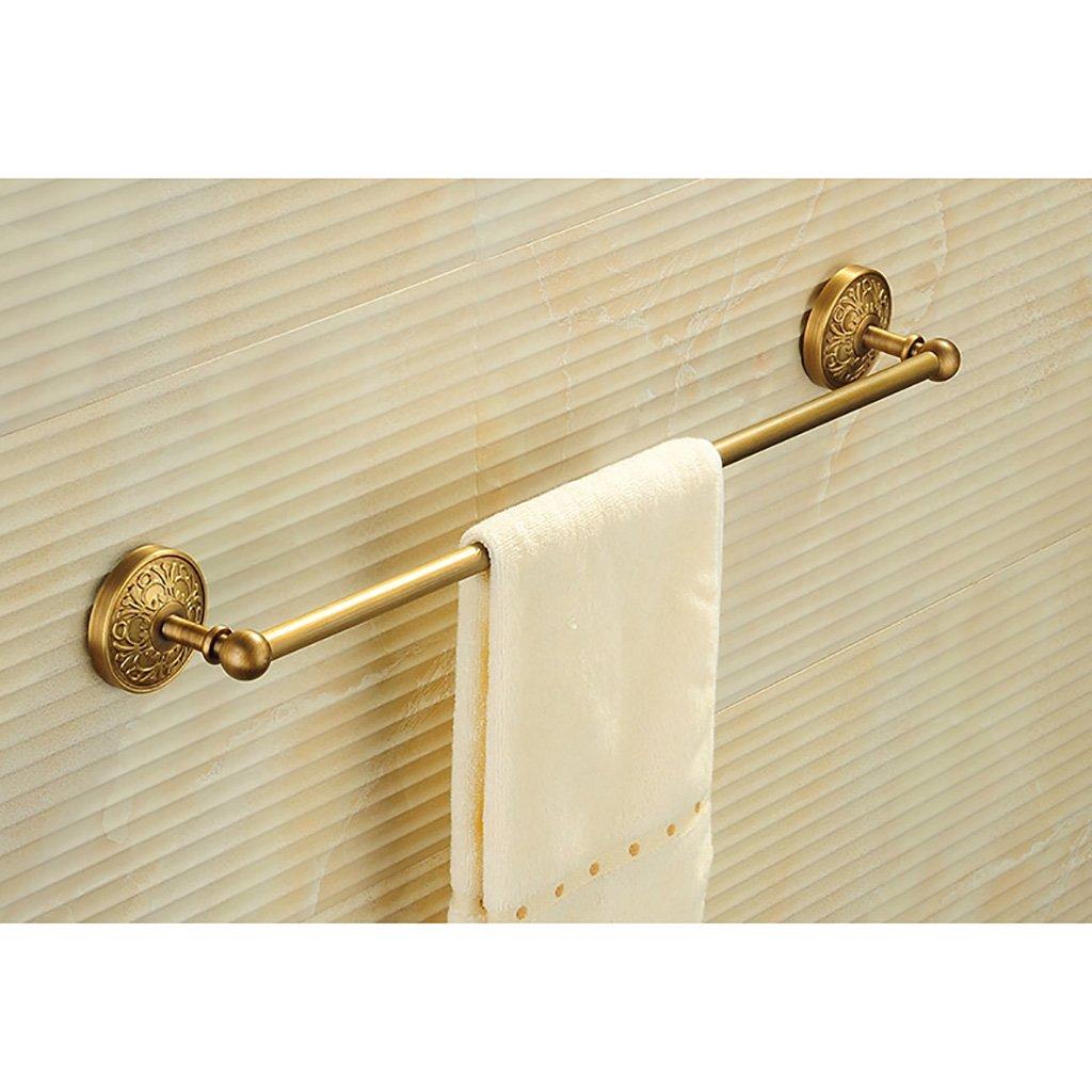 タオルラックウォールマウントウォールマウント銅タオルロッドシングルポールタオルラックのドアの浴室のキッチン (色 : B) B07D8VGFV8B