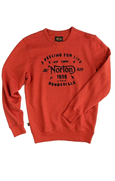 NORTON - Sudadera Sprinter Hombre Color: 264 Royal Red Talla: Size L: Amazon.es: Ropa y accesorios
