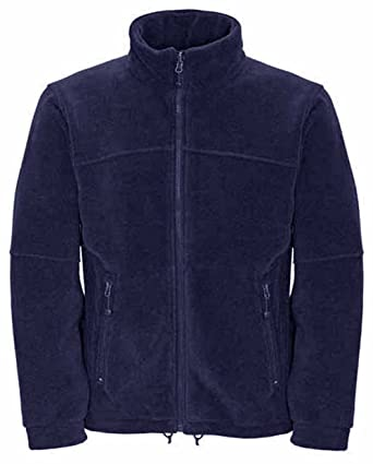 Mens Classic Fleece Jacket Coat Sizes XS to 4XL - WORK LEISURE ...