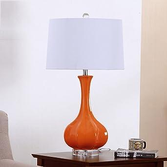 Chinesische Art Keramische Tabellen Lampe Zwei Farben Orange