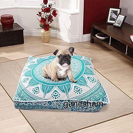 ganesham artesanía – gran Mandala tapiz perro o gato cama, Mandala cojín, Boho,