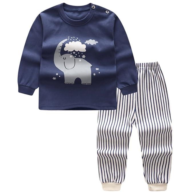 XFentech Lindo Animal Impresión Pijamas Set Para Unisexo Niño Minions Pijama para Niños: Amazon.es: Bebé
