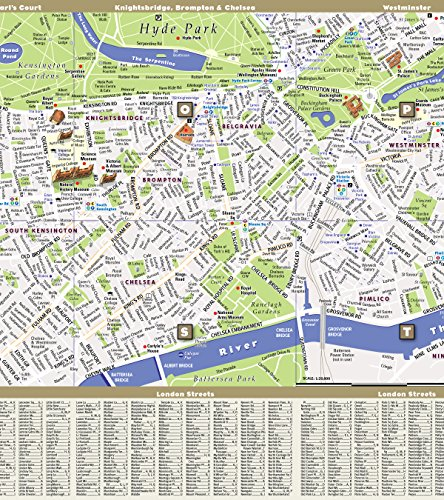 London Map With Sights.Streetsmart London Map By Vandam City Street Map Of London England Laminated Folding Pocket Size City Travel And Tube Map With All Museums