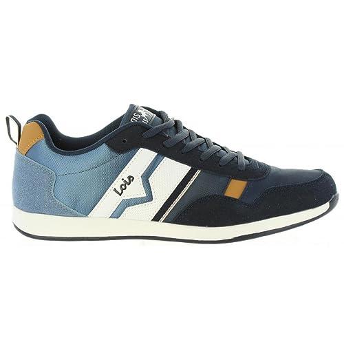 LOIS JEANS Zapatillas Deporte de Hombre 84645 107 Marino Talla 44: Amazon.es: Zapatos y complementos