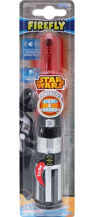 Cepillo de dientes de Star Wars con diseño de sable láser de Darth Vader + imán
