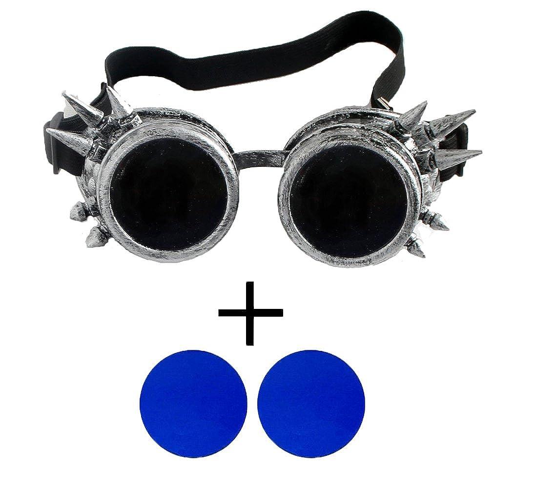 eabbb0bd3556 Amazon.com  FIRSTLIKE retro steam punk glasses corner Victoria gorgeous  glasses clothing accessories color lens  Clothing