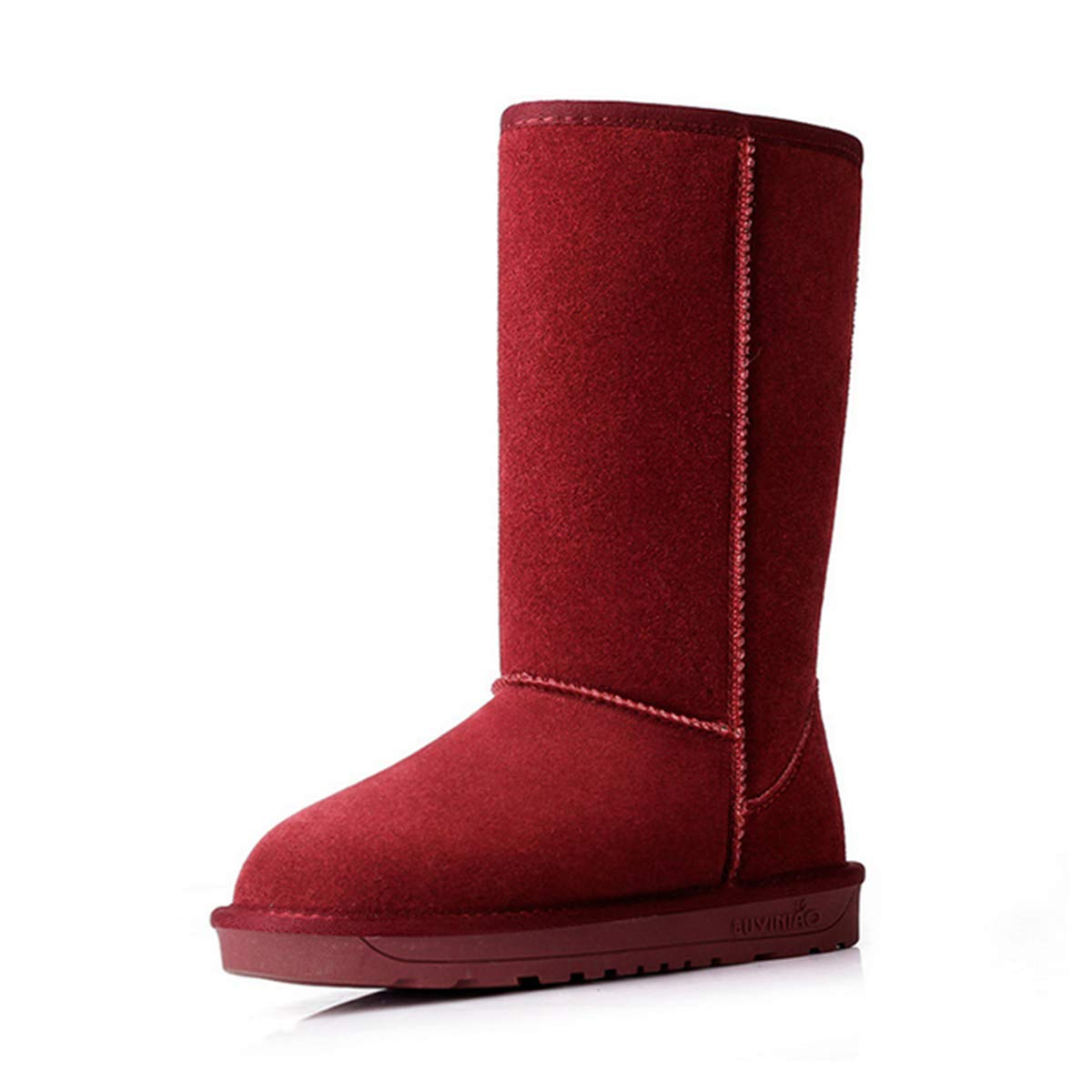 Chaussure de Suedé Neige Hiver Chaude pour Rouge Femme 15877 Homme Unisexe Talon Plat Bottes de Neige Fourrée à Enfiler Suedé Classique Bottines Cuissardes Antidérapante-Fanessy Rouge Vineux 797817e - fast-weightloss-diet.space
