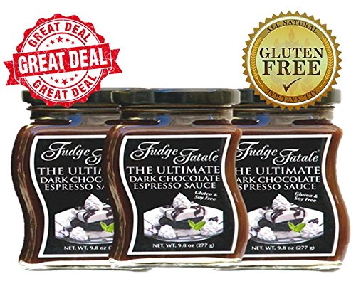 - Fudge Fatale Dark Chocolate Espresso 3 Pack The Ultimate Dark Chocolate Espresso Sauce Award Winning Chocolate Sauce and Dark Roasted Espresso