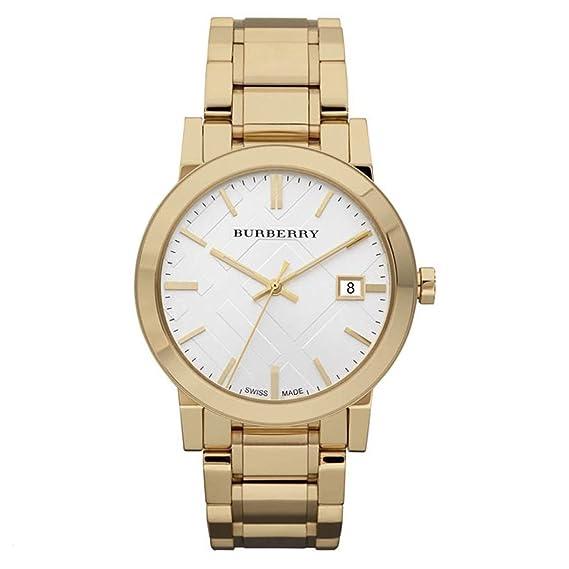 Reloj Bañado En Oro Hombre | Burberry Reloj De Hombre Swiss Banada En Oro Pulsera De Acero
