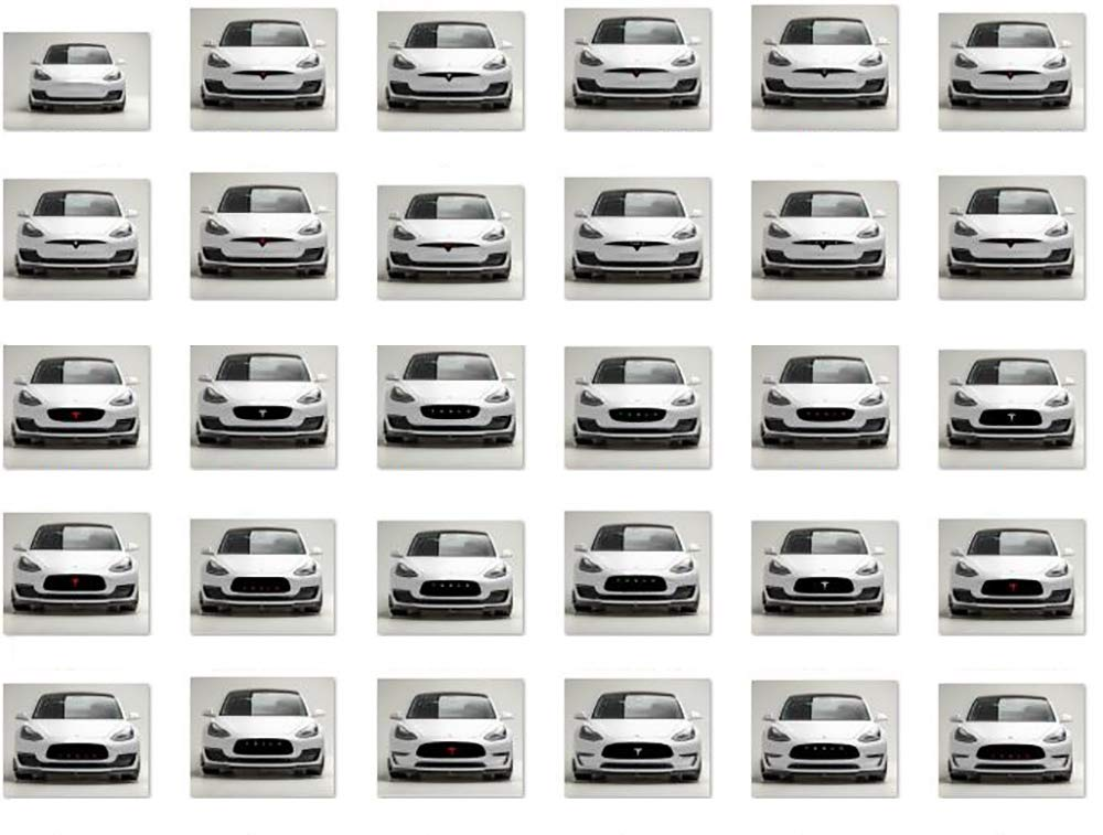 Many styles available Big Custom Front grille bumper Decal sticker compatible with exterior decorative accessories for Tesla Model 3 1