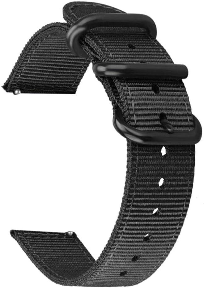 WATORY Pulsera compatible con Amazfit Bip, Quick Release Premium Nylon Reloj Correa de repuesto con cierre ajustable para Xiaomi Huami Amazfit Bip, Amazfit Bip lite, Amazfit GTS Negro