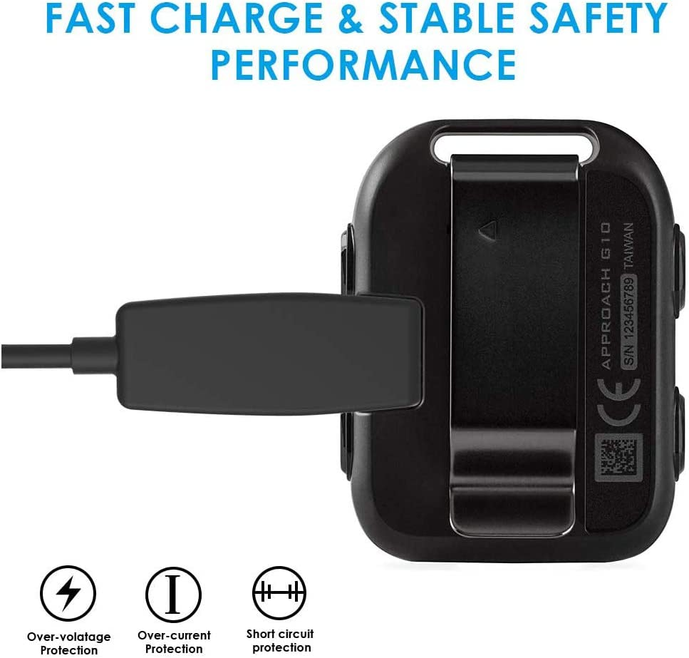PowerDirect USB Chargeur Alimentation pour Garmin Approach G10 S20 Vivomove HR et Garmin Forerunner 735XT 35 230 235 630 645 Music