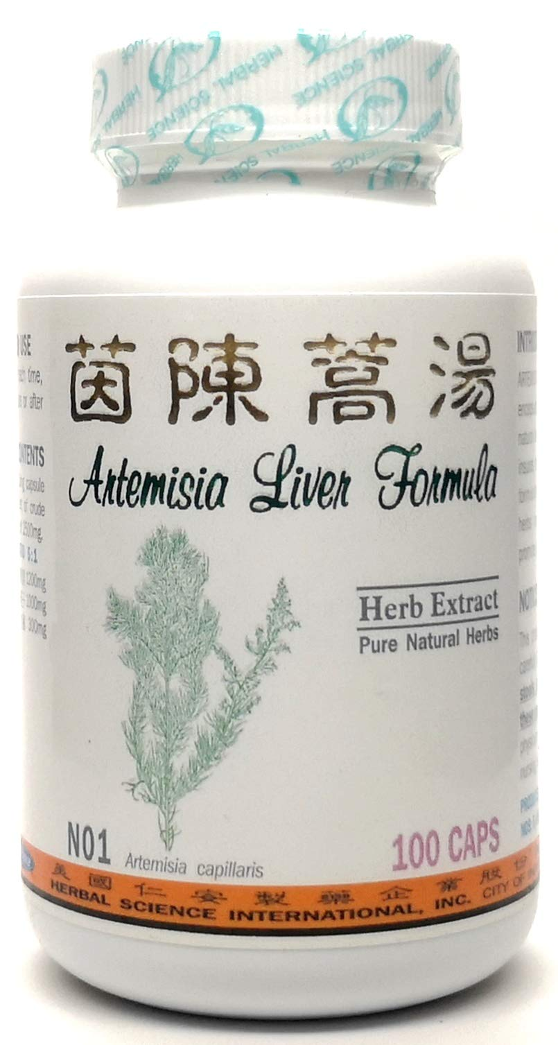 Artemisia Liver Formula Dietary Supplement 500mg 100 Capsules (Yin Chen Hao Tang) N01 100% Natural Herbs
