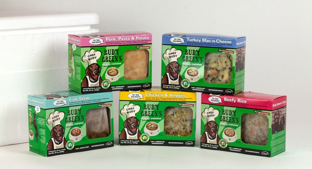 Rudy Green'S Doggy Cuisine Home Cooking For Dogs Variety Pack Frozen Human Grade Dog Food 5 Boxes (7.5 Lbs Total,  20 Pouches Each 6 Oz)