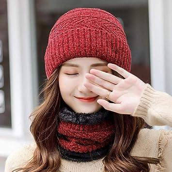 Womens Costilla Gorro de Punto Moda Hat el Viento y el frío ...