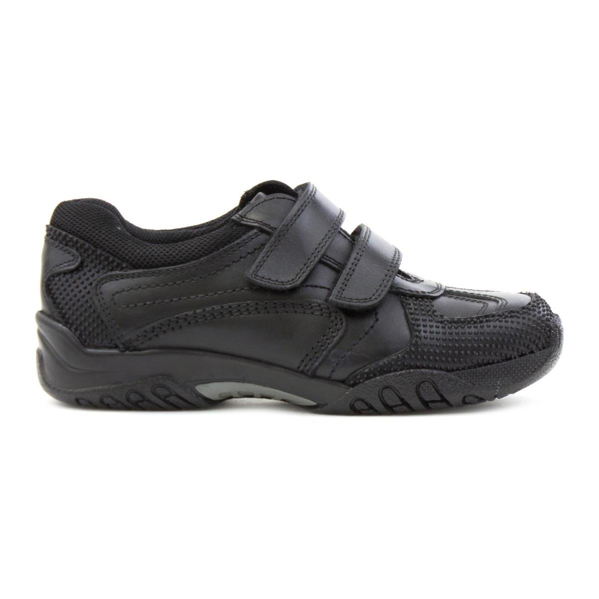 Hush Puppies - Zapato de cuero con tira de ajuste, negro, para niño Hush Puppies - Talla 4 UK / 37 EU - Negro: Amazon.es: Zapatos y complementos