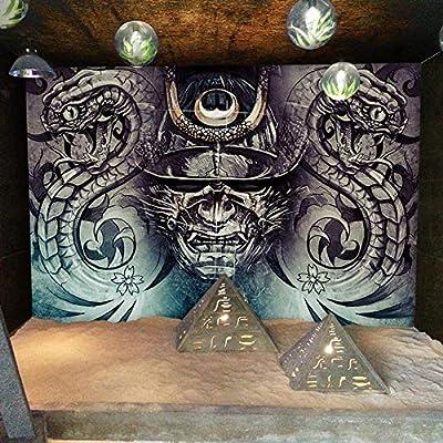 XXQBH Autoadhesivo Mural 3D Tatuaje Tienda Personalidad Dibujado A ...