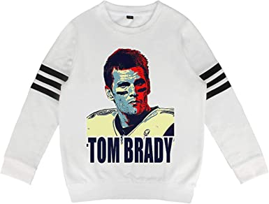 Hoodie Sweatshirt for Boys and Girls Football MVP Tom Goat 12 Crewneck Cotton Long Sleeve Kids