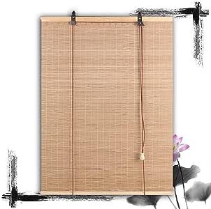Bamboo Ventana de bambú Rollo con persianas enrollables Persianas ...