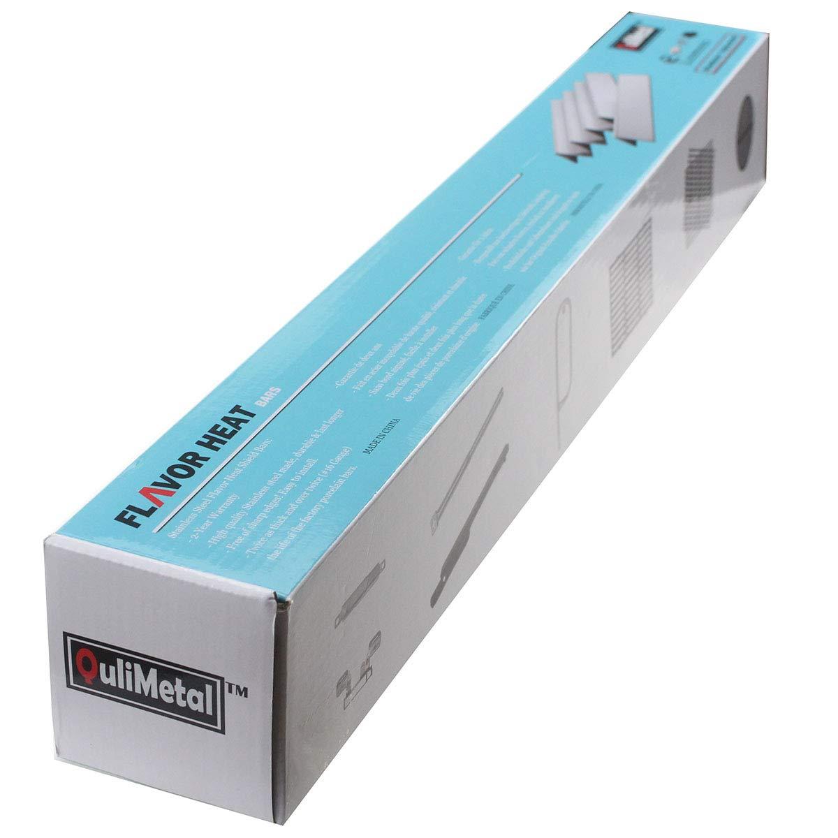 QuliMetal 7620, 16 Gauge, 17.5'' Stainless Steel Heat Shield for Weber Genesis Flavor Bars, Fit Genesis 300, E310, S310, E330, EP-330 by QuliMetal (Image #6)