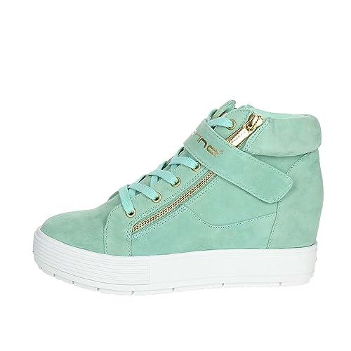 Fornarina Mujer 37 es Verde Agua Pe17mj9606s038 Sneakers Amazon rRanECrqWw
