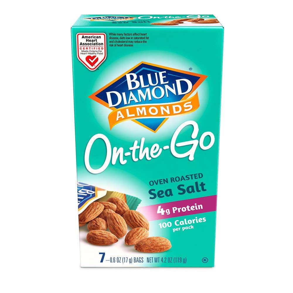 Blue Diamond Almonds, Oven Roasted, Sea Salt, 7 ct