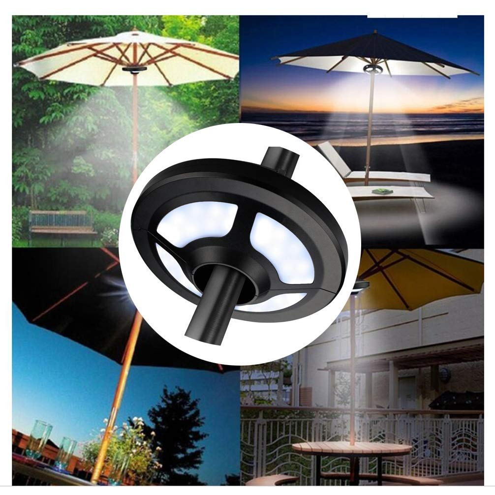 Patio Umbrella Lights, Multi-Functional Umbrella Pole Light Tents Lamp for Outdoor Camping Garden Hiking Umbrella Lamps (Size : OneSize) by LAMPSJN