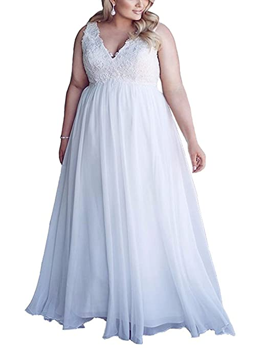Amazon.com: Chic Maternity Wedding Dresses for Bride Plus Size White Lace Wedding Dress: Clothing