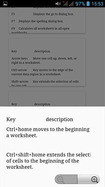 Excel Shortcut Keys:Amazon:Mobile Apps