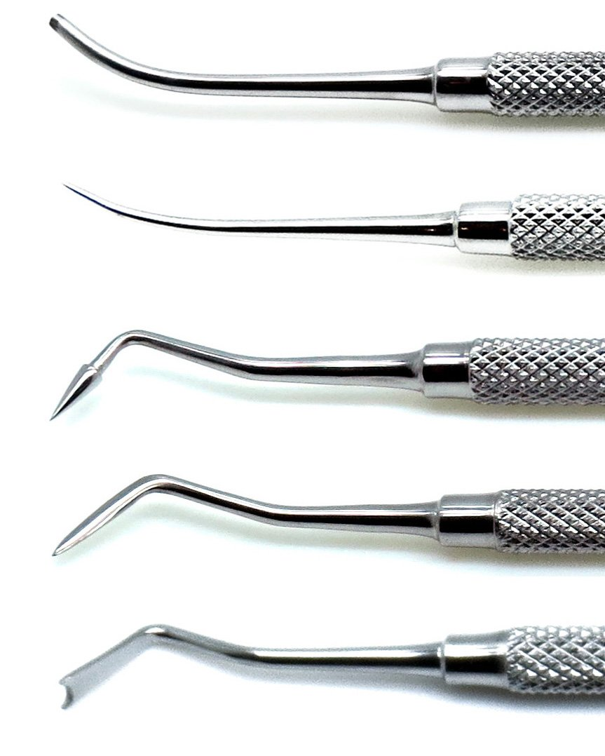 Dental Pk Thomas Wax Carvers P.K 1, 2, 3, 4, 5 Restorative Double Ended Waxing Modelling Instruments 5 Pieces Set by Superior (Image #3)